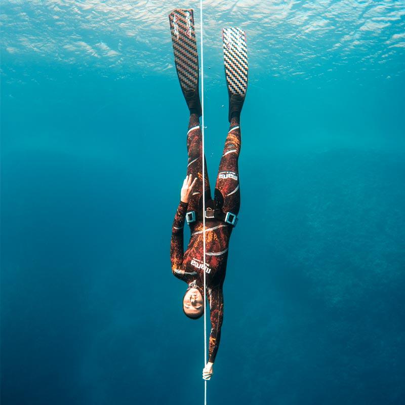 Freediving woman